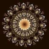 Μπαρόκ σχέδιο mandala κεντητικής Διανυσματική ζωηρόχρωμη floral στρογγυλή διακόσμηση ταπήτων Σύσταση δαντελλών Grunge Κεντημένος  ελεύθερη απεικόνιση δικαιώματος