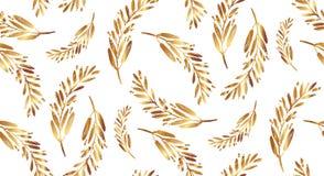 Μπαρόκ σχέδιο με τους χρυσούς στροβίλους Στοκ Εικόνα
