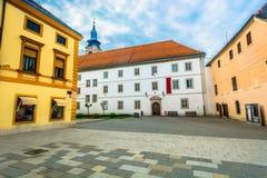 Μπαρόκ τετράγωνο στην Κροατία, πόλη Varazdin στοκ εικόνα με δικαίωμα ελεύθερης χρήσης