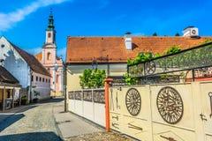 Μπαρόκ τοπίο στην Κροατία, Varazdin στοκ εικόνες με δικαίωμα ελεύθερης χρήσης
