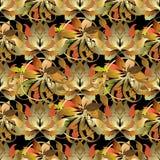 Μπαρόκ φυλλώδες τρισδιάστατο άνευ ραφής σχέδιο ύφους Διανυσματικό φθινόπωρο backgroun Στοκ εικόνες με δικαίωμα ελεύθερης χρήσης