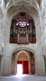 Μπαρόκ όργανο στον καθεδρικό ναό του Reims Στοκ Εικόνες