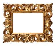 μπαρόκ ύφος πλαισίων ξύλινο Στοκ εικόνες με δικαίωμα ελεύθερης χρήσης