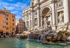 μπαρόκ TREVI της Ρώμης αριστουργημάτων της Ιταλίας πηγών Στοκ φωτογραφίες με δικαίωμα ελεύθερης χρήσης