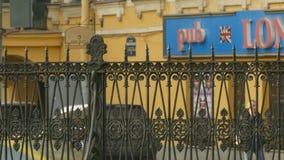 Μπαρ Λονδίνο στη Αγία Πετρούπολη απόθεμα βίντεο