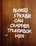 Μπαρ Ettamogah, πόρτα τουαλετών. Στοκ φωτογραφία με δικαίωμα ελεύθερης χρήσης