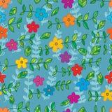 Μπατίκ φύλλων λουλουδιών πολλοί άνευ ραφής σχέδιο Στοκ φωτογραφία με δικαίωμα ελεύθερης χρήσης