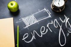 Μπαταρία ενεργειακής διαφορετική μεθόδου αποταμίευσης έννοιας Στοκ Εικόνες