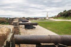 Μπαταρία των καταστροφών οχυρών του San Antonio - Ancud, νησί Chiloe, Χιλή στοκ φωτογραφία με δικαίωμα ελεύθερης χρήσης