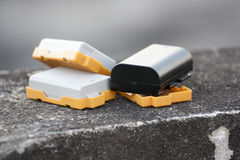 Μπαταρίες καμερών Στοκ Εικόνα