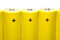 μπαταρίες που απομονώνονται Στοκ φωτογραφίες με δικαίωμα ελεύθερης χρήσης