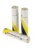 μπαταρίες τρία Στοκ Φωτογραφία