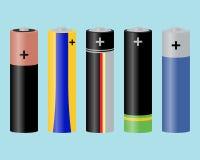 μπαταρίες Στοκ εικόνες με δικαίωμα ελεύθερης χρήσης