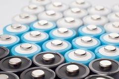 μπαταρίες AA επαναφορτιζόμενες Στοκ Εικόνες