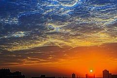 Μπαχρέιν - σχηματισμός σύννεφων Στοκ Εικόνες