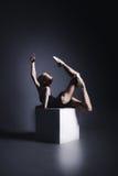 Μπαλέτο στο σκοτάδι Στοκ φωτογραφία με δικαίωμα ελεύθερης χρήσης