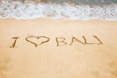 Μπαλί ι αγάπη Στοκ φωτογραφία με δικαίωμα ελεύθερης χρήσης