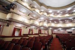 Μπαλκόνια στην αίθουσα συνεδριάσεων στο θέατρο Vakhtangov Στοκ φωτογραφίες με δικαίωμα ελεύθερης χρήσης