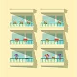 Μπαλκόνια Στοκ φωτογραφίες με δικαίωμα ελεύθερης χρήσης