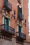 Μπαλκόνια Casa Terrades στη διαγώνιος Avinguda της Βαρκελώνης Στοκ εικόνα με δικαίωμα ελεύθερης χρήσης