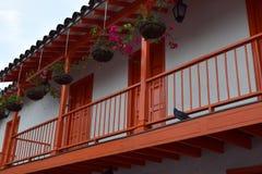 Μπαλκόνι σε Pueblito Paisa Στοκ Εικόνα