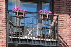 Μπαλκόνι σπιτιών Ελσίνκι, Φινλανδία Στοκ φωτογραφία με δικαίωμα ελεύθερης χρήσης