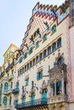Μπαλκόνι Casa Amatller στην περιοχή Eixample στη Βαρκελώνη Στοκ Εικόνες