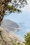 Μπαλκόνι Playas Las, νησί EL Hierro Στοκ Φωτογραφίες
