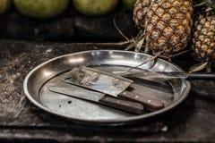 Μπαλτάς και μαχαίρια Στοκ Φωτογραφίες
