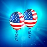 Μπαλόνια ΑΜΕΡΙΚΑΝΙΚΩΝ σημαιών ελεύθερη απεικόνιση δικαιώματος