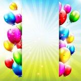 Μπαλόνια γενεθλίων Στοκ εικόνες με δικαίωμα ελεύθερης χρήσης