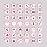 Μπαλόνια εικονιδίων καθορισμένα Απεικόνιση αποθεμάτων