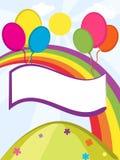 Μπαλόνια εμβλημάτων στοκ εικόνα με δικαίωμα ελεύθερης χρήσης