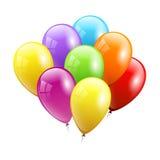 μπαλόνια εορταστικά επίσης corel σύρετε το διάνυσμα απεικόνισης Στοκ Εικόνες