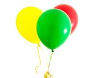 μπαλόνια ζωηρόχρωμα τρία Στοκ φωτογραφία με δικαίωμα ελεύθερης χρήσης