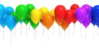 μπαλόνια ζωηρόχρωμα Στοκ Φωτογραφία