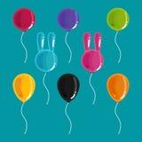 μπαλόνια ζωηρόχρωμα Ελεύθερη απεικόνιση δικαιώματος