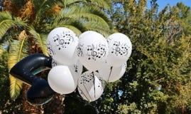 Μπαλόνια θέματος μουσικής στοκ φωτογραφία με δικαίωμα ελεύθερης χρήσης