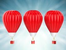 μπαλόνια καυτά τρία αέρα Στοκ φωτογραφία με δικαίωμα ελεύθερης χρήσης