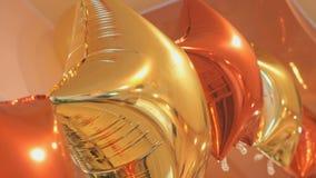 Μπαλόνια με μορφή των αστεριών στο γάμο απόθεμα βίντεο