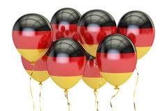 Μπαλόνια με τη σημαία της Γερμανίας, holyday έννοια τρισδιάστατη απόδοση Στοκ Φωτογραφία