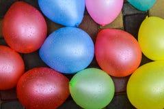Μπαλόνια με τις πτώσεις του νερού Στοκ φωτογραφία με δικαίωμα ελεύθερης χρήσης