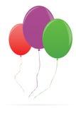 Μπαλόνια που απομονώνονται ζωηρόχρωμα στο λευκό Στοκ Εικόνες