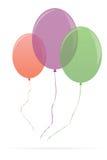 Μπαλόνια που απομονώνονται ζωηρόχρωμα στο λευκό Στοκ φωτογραφίες με δικαίωμα ελεύθερης χρήσης