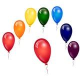 μπαλόνια που τίθενται Στοκ Εικόνες