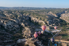 Μπαλόνια σε Cappadocia Στοκ φωτογραφία με δικαίωμα ελεύθερης χρήσης