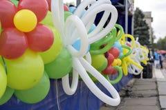 Μπαλόνια στο φεστιβάλ Στοκ Φωτογραφία