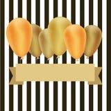 μπαλόνια χρυσά Στοκ Φωτογραφίες