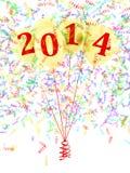 2014 μπαλόνια Στοκ Φωτογραφίες