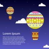Μπαλόνι αέρα στο μπλε ουρανό Στοκ Φωτογραφίες